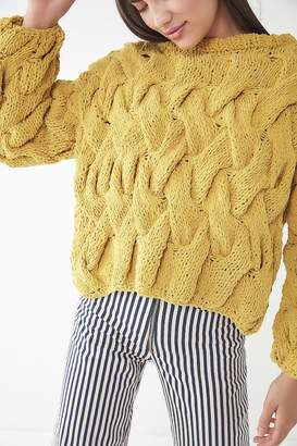 Urban Outfitters Hand Cable Knit Pullover Sweater