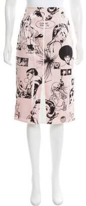 Prada 2018 Comic Book Print Skirt w/ Tags Pink 2018 Comic Book Print Skirt w/ Tags
