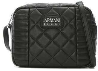 Armani Jeans Quilted Black Eco Leather Shoulder Bag