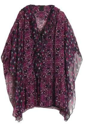 Anna Sui Ruffled Printed Silk-Georgette Mini Dress