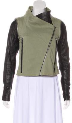 Yigal Azrouel Cut25 by Leather-Paneled Moto Jacket