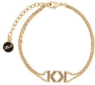 Karl Lagerfeld double K bracelet