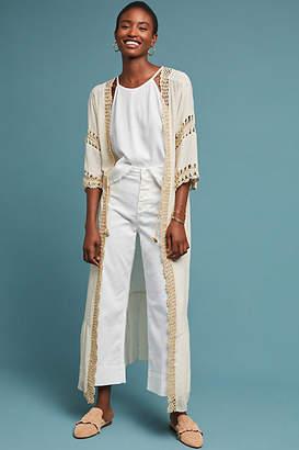 Muche et Muchette Crocheted Longline Kimono