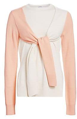 Loewe Women's Cashmere Double-Layer Sweater