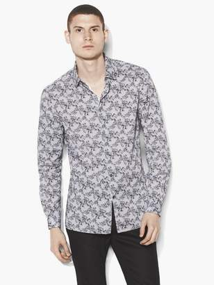 John Varvatos Poplin Floral Shirt
