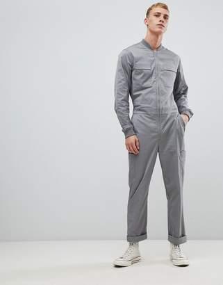 Asos DESIGN boiler suit in gray