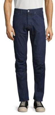 01b33e3c G Star 5620 3D Tapered Pinstripe Jeans