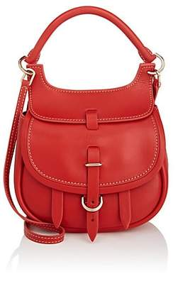 Fontana Milano Women's Chelsea Toy Leather Saddle Bag - Red