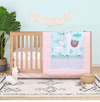 Belle Llama Love 4-Piece Crib Bedding Set Bedding
