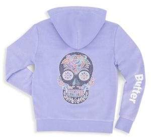 Butter Shoes Girl's Burnout Zip Hoodie