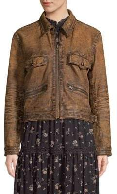 Polo Ralph Lauren Military Leather Jacket
