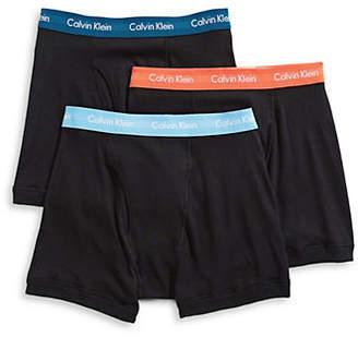 Calvin Klein Three-Pack Cotton Boxer Briefs