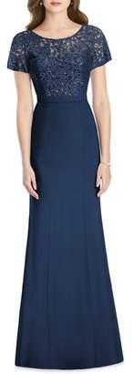 Jenny Packham Embellished Lace Gown