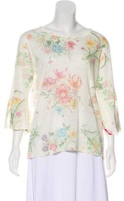 Avant Toi Linen Printed Top w/ Tags