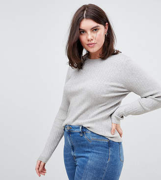 Asos DESIGN Curve ribbed sweater in fine knit