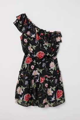 H&M One-shoulder Dress - Black