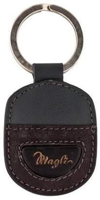 Bruno Magli Leather Logo Keychain