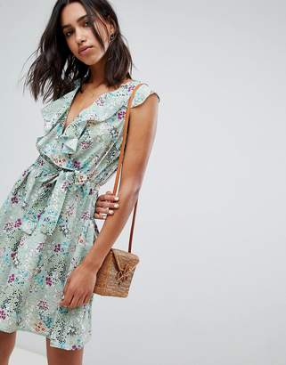 Lavand Floral Wrap Dress