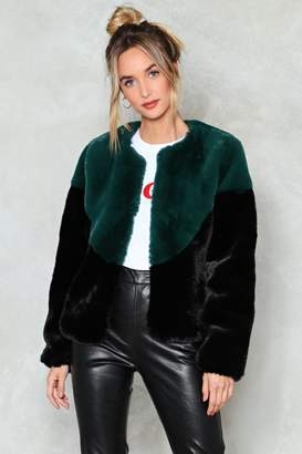 Nasty Gal One Fur All Faux Fur Jacket