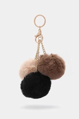 Ardene Faux Fur Pompom Keychain ebde94824