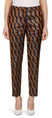 Dries Van Noten Metallic Brocade Trousers