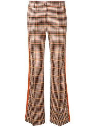P.A.R.O.S.H. checked flared trousers