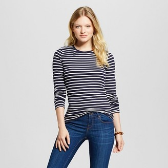 Merona Women's Striped Ultimate LS Crew Tee $12 thestylecure.com
