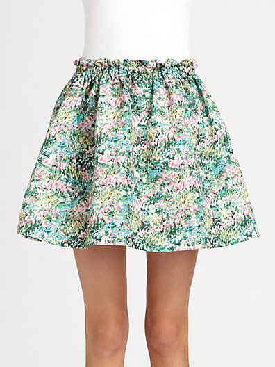 RED Valentino Meadow Print Skirt