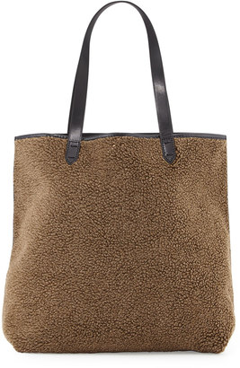 Kelsi Dagger Commuter Faux-Shearling Tote Bag, Olive $135 thestylecure.com