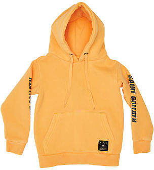 St Goliath New Boys Tots Boys Vote Hoody Long Sleeve Cotton Elastane Orange