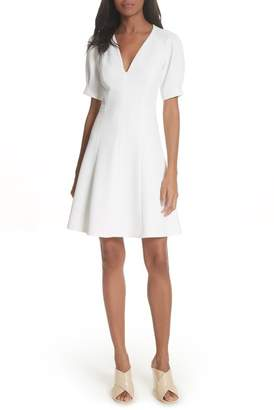 Rebecca Taylor Stretch Knit Fit & Flare Dress