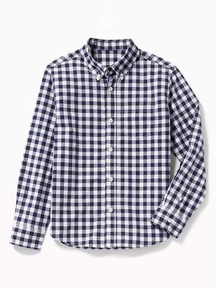 Old Navy Check-Pattern Built-In Flex Shirt for Boys
