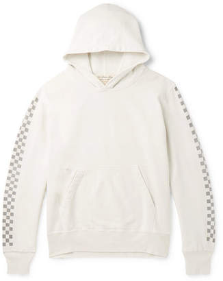 Remi Relief Printed Loopback Cotton-Jersey Hoodie