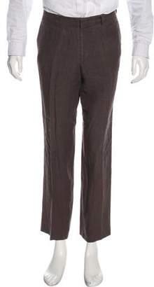 Dolce & Gabbana Linen Flat Front Pants