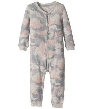 PJ Salvage Kids Weekend Love Camo Peachy Romper (Infant)