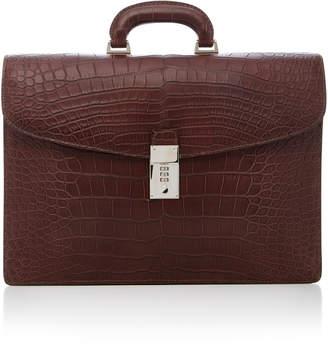 Anthony Logistics For Men T. Alligator Flap Briefcase