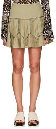 Chloé Women's Lace-Inset Silk Miniskirt