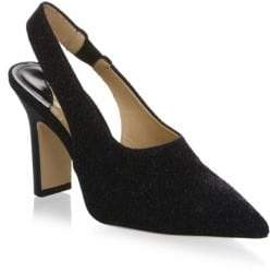 PAUL ANDREW Stella Lurex Slingback Leather Pumps No5ZS