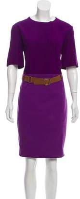 Akris Short Sleeve Knee-Length Dress
