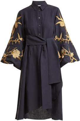 Osman Ariana embroidered-linen dress
