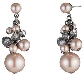 Carolee Short Cluster Beaded Earrings