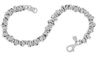 """Italian Silver Love Knot Link 7-1/4"""" Bracelet, 8.5g"""