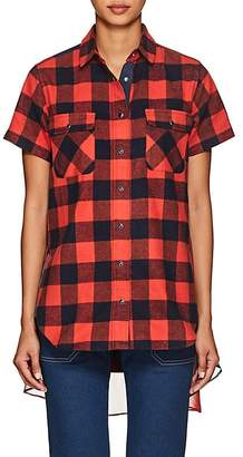 Sacai Women's Checked Cotton Flannel Shirt