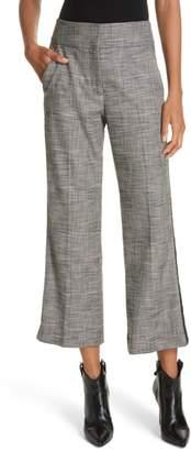 Veronica Beard Cormac Side Stripe Check Trousers
