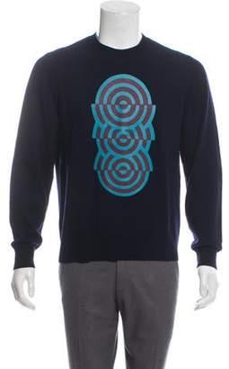 Dries Van Noten Graphic Wool Sweater navy Graphic Wool Sweater