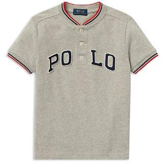 Ralph Lauren Boys' Henley Baseball Tee - Little Kid