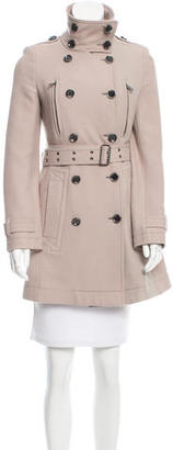 Burberry Brit Wool Double-Breasted Coat $395 thestylecure.com