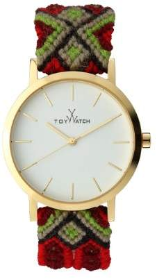 Toy Watch Toywatch Maya Women's Quartz Watch with White Dial Analogue Display and Red Strap MYW05GD - 0.94.0059