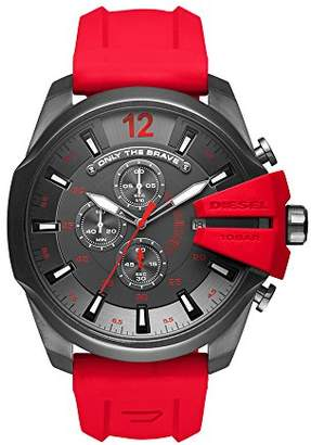 Diesel Men's Mega Chief Quartz Stainless Steel and Silicone Chronograph Watch
