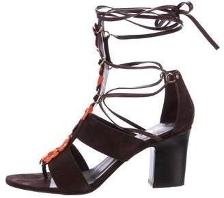 Tamara Mellon Suede Embellishes Sandals